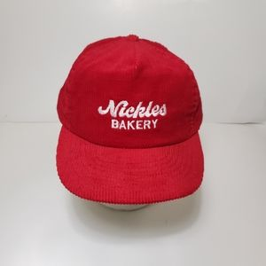 Other - Vtg Nickles Bakery Corduroy Red Hat